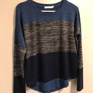 EUC Rag & Bone Blue Gray Color Block Sweater
